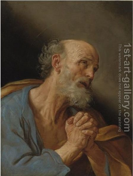 The Penitent Saint Peter by Guido Reni - Reproduction Oil Painting