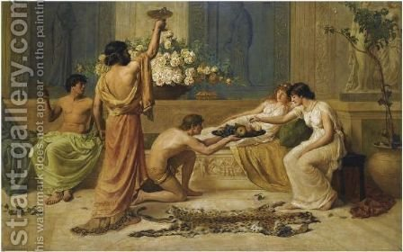 The Banquet by Henry Thomas Schafer - Reproduction Oil Painting