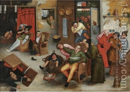 Extraction Of The Stone Of Folly by (after) Marten Van Cleve - Reproduction Oil Painting