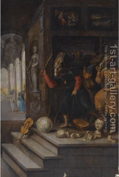 An Allegory Of The Iconoclasm by (after) Frans II Francken - Reproduction Oil Painting