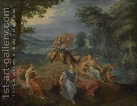Apollo And The Nine Muses by (after) Frans II Francken - Reproduction Oil Painting