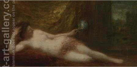 Odalisque A L'Ecran by Ignace Henri Jean Fantin-Latour - Reproduction Oil Painting
