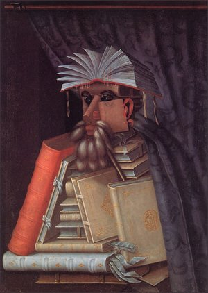 Famous paintings of Figurative: The Librarian The Librarian 1566