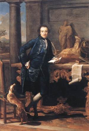 Famous paintings of Men: Portrait Of Charles Crowle 1761-62