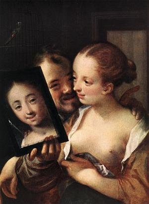 Mannerism painting reproductions: Joking Couple