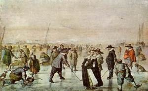 Famous paintings of Ice skating: A Scene On The Ice