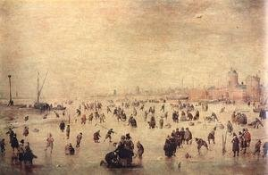 Famous paintings of Ice skating: Skaters