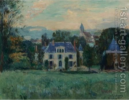 Le Maison De Paulin by Albert Lebourg - Reproduction Oil Painting