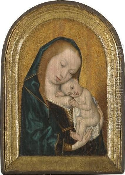 Virgin And Child 4 by - Unknown Painter - Reproduction Oil Painting