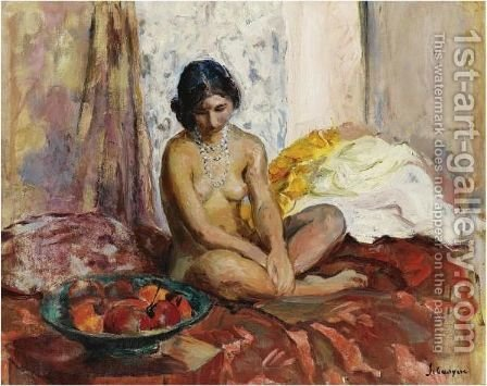 L'Egyptienne Au Plateau De Fruits by Henri Lebasque - Reproduction Oil Painting