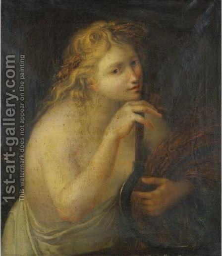 Ceres Holding A Sheaf Of Wheat And A Scythe by (after) Cipriani, Giovanni Battista - Reproduction Oil Painting