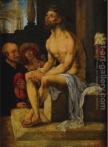 Mocking Of Christ by (after) Jan (Mabuse) Gossaert - Reproduction Oil Painting