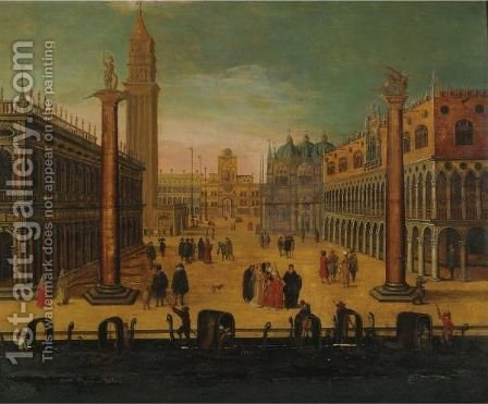 Piazzetta San Marco by (after) Louis De Caullery - Reproduction Oil Painting