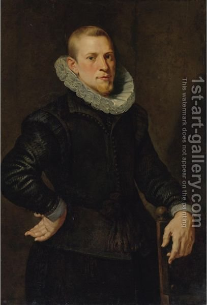 Portrait Of A Man 2 by (after) Sir Peter Paul Rubens - Reproduction Oil Painting
