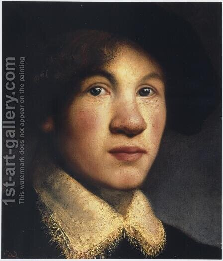 Tronie Of A Young Man, Possibly A Portrait Of The Young Rembrandt by Isaac de Jouderville - Reproduction Oil Painting