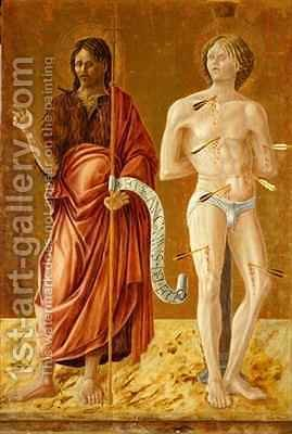 St. John the Baptist and St. Sebastian by Giovanni Boccati - Reproduction Oil Painting