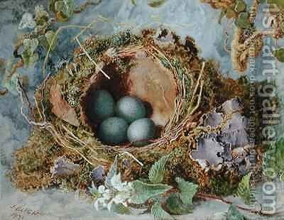 A Nest of Eggs by Jabez Bligh - Reproduction Oil Painting