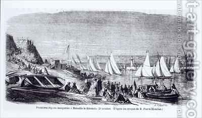 The first regattas at Marseilles by (after) Blanchet, Pierre - Reproduction Oil Painting