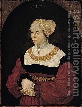 Portrait Of Clara Burckhart, Aged 30, Standing Three-quarter Length by (after) Conrad Faber Von Creuznach - Reproduction Oil Painting
