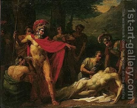 The death of patroclus by (after) Baron Jean-Antoine Gros - Reproduction Oil Painting