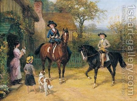 A Visit To The Village by Heywood Hardy - Reproduction Oil Painting