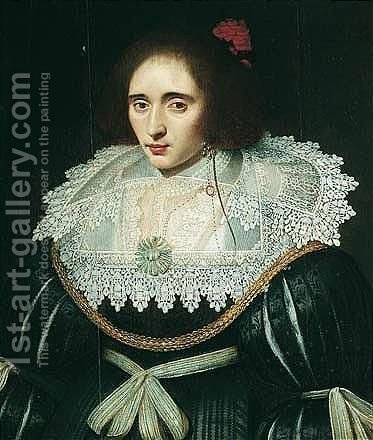 Portrait Of A Lady, Said To Be Elizabeth, Queen Of Bohemia by (after) Michiel Jansz. Van Miereveldt - Reproduction Oil Painting