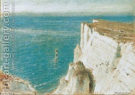 Beachy Head, Sussex by Albert Goodwin - Reproduction Oil Painting