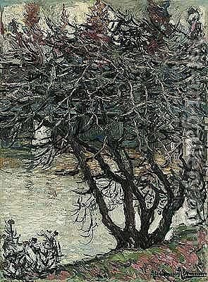 Tree by the river by Alexander Altmann - Reproduction Oil Painting