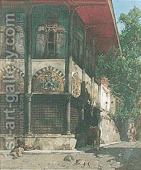 Strada Di Istanbul by Alberto Pasini - Reproduction Oil Painting