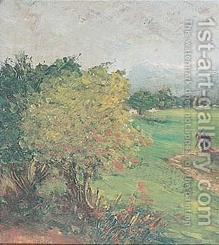 Paesaggio by Giovanni Segantini - Reproduction Oil Painting