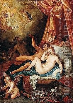 Mars And Venus Surprised By Vulcan by Hendrik van Balen, I - Reproduction Oil Painting