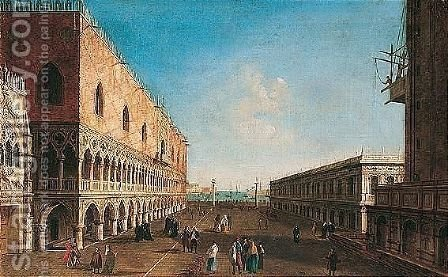 Venice, a view of the piazzetta looking south by (after) Michele Marieschi - Reproduction Oil Painting