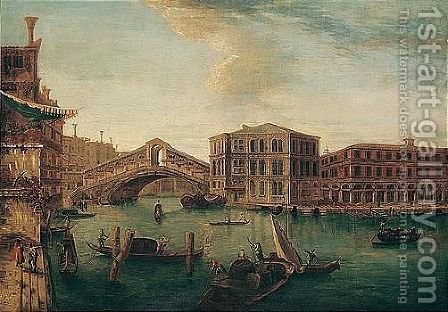 Venice, a view of the Rialto by (after) Michele Marieschi - Reproduction Oil Painting