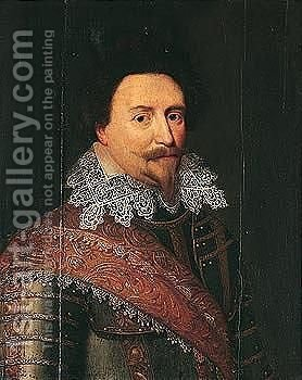 Portrait Of Frederik Hendrik, Prince Of Orange, Count Of Nassau And Stadholder (1584 - 1647) by (after) Michiel Jansz. Van Mierevelt - Reproduction Oil Painting