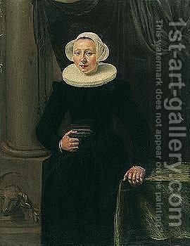Portrait of a lady by (after) Hendrick Gerritsz Pot - Reproduction Oil Painting