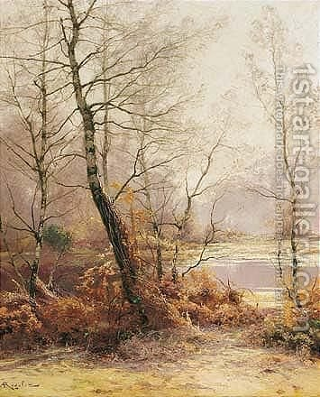 Bord D'Etang En Hiver by Albert Gabriel Rigolot - Reproduction Oil Painting