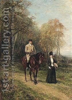 Colonel And Mrs Wyndham Murray by Heywood Hardy - Reproduction Oil Painting
