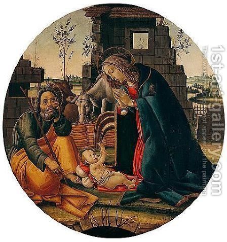 The Adoration Of The Christ Child by (after) Sandro Botticelli (Alessandro Filipepi) - Reproduction Oil Painting