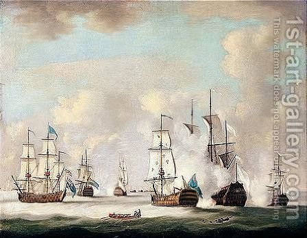 The Battle Of Lagos Bay, 1759 by (after) Richard Paton - Reproduction Oil Painting