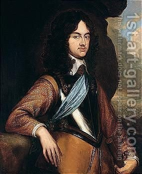 Portrait Of Charles II by (after) Adriaen Hanneman - Reproduction Oil Painting