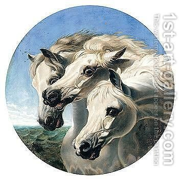 Pharaoh's Horses by (after) Herring Snr, John Frederick - Reproduction Oil Painting