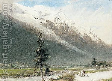 Chamonix, Switzerland by Albert Goodwin - Reproduction Oil Painting