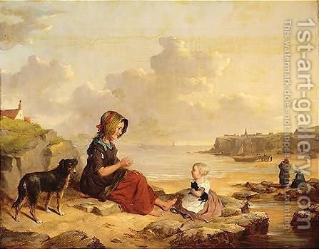 Fisher Girls by (after) William Snr Shayer - Reproduction Oil Painting