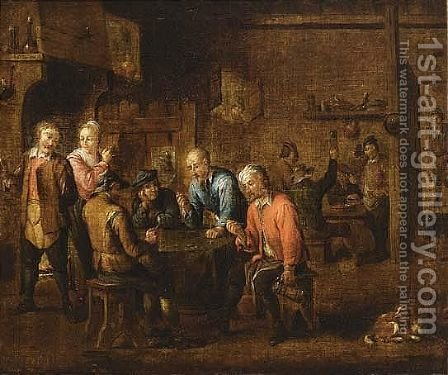 Bears Teniers Signature Upper Left by (after)  David The Younger Teniers - Reproduction Oil Painting