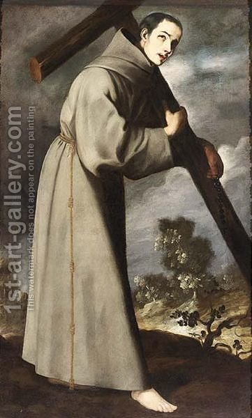 Saint Diego d'Alcala by (after) Murillo, Bartolome Esteban - Reproduction Oil Painting