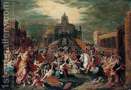 The Rape Of The Sabine Women by (after) Frans II Francken - Reproduction Oil Painting