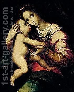 The Madonna And Child by (after) Andrea Del Brescianino - Reproduction Oil Painting
