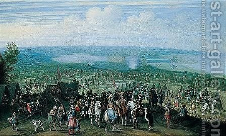 The Siege Of Bergen Op Zoom by (after) Pieter Snayers - Reproduction Oil Painting