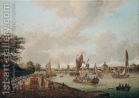 A View Of Amsterdam From The Buiten-amstel by (after) Abraham Storck - Reproduction Oil Painting