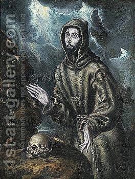 Based Upon A Composition By El Greco Known Through Numerous Studio And Period Replicas by (after) El Greco (Domenikos Theotokopoulos) - Reproduction Oil Painting